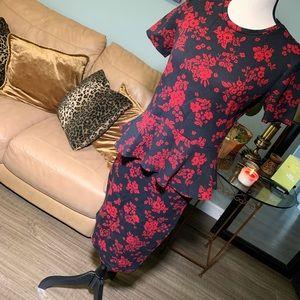 Zara Collection Woman black/red floral pattern set